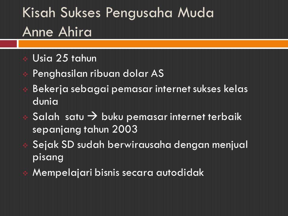 Kisah Sukses Pengusaha Muda Husni Hasan  Kelahiran Surabaya, 21 Desember 1969  Pemilik PT Senayan Abadi  bergerak di bidang penerbitan dan pemasaran buku  Mengawali bisnis dengan pelayanan jasa pengurusan surat-surat perusahaan (ex.