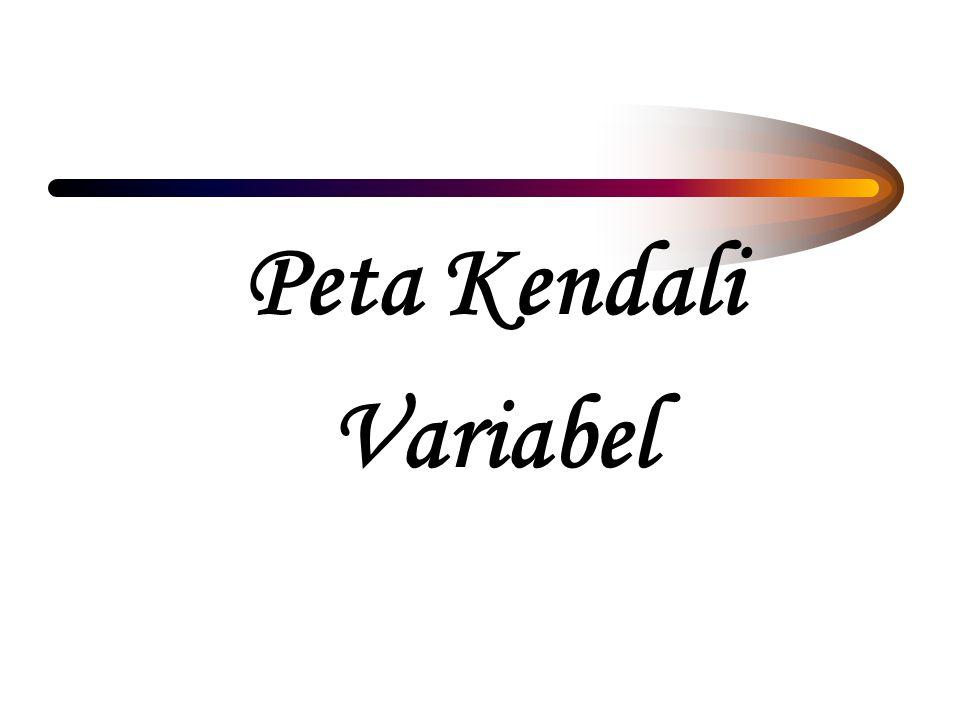 Menggambarkan variasi atau penyimpangan yg terjadi pd kecenderungan data variabel Kondisi in-out of control tapi tdk identik dg kepuasan pelanggan