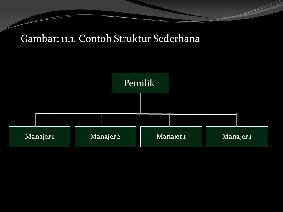 Gambar: 11.1. Contoh Struktur Sederhana Pemilik Manajer 1Manajer 2Manajer 1