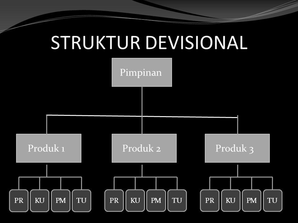 STRUKTUR DEVISIONAL Pimpinan Produk 1Produk 2Produk 3 PRKUPMTU PRKUPMTUPRKUPMTU