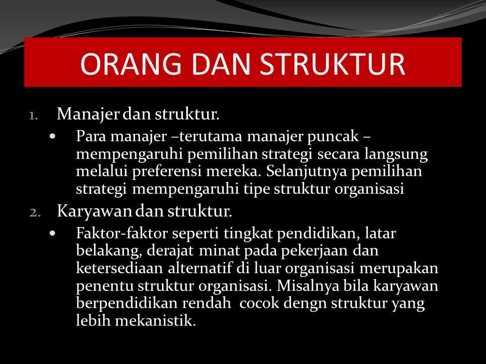 ORANG DAN STRUKTUR 1.Manajer dan struktur.