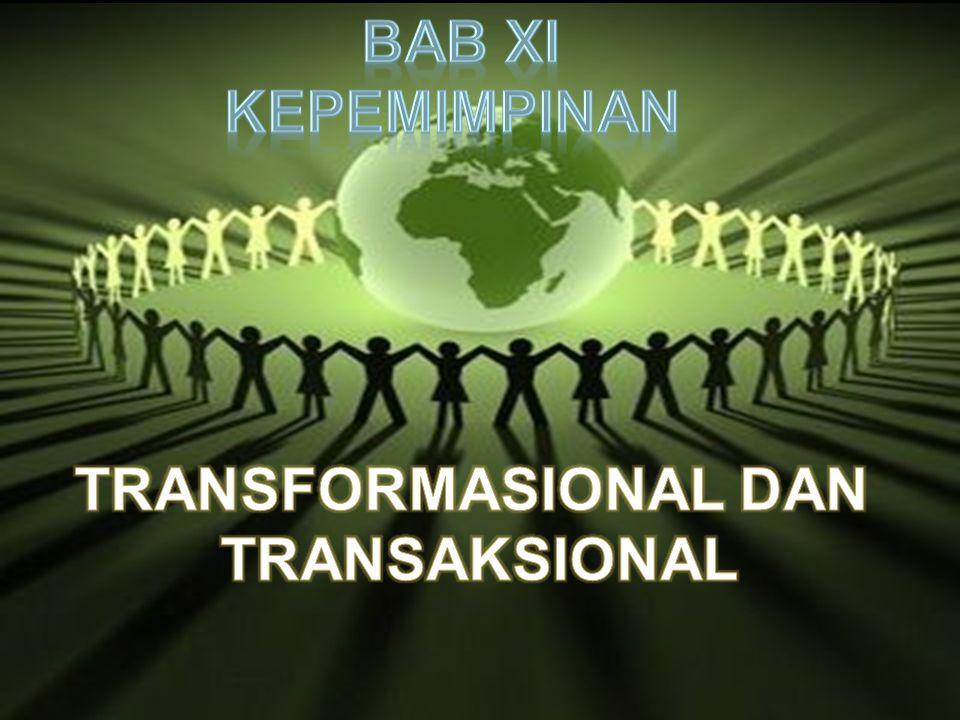 Kepemimpinan transaksional dan transformasional dikem- bangkan oleh Bass (1985) bertolak dari Teori Hierarki Kebutuhan Maslow Menurut teori hierarki kebutuhan tersebut, kebutuhan bawahan lebih rendah seperti kebutuhan fisik, rasa aman dan sosial dapat terpenuhi dengan baik melalui penerapan kepemimpinan transaksional.