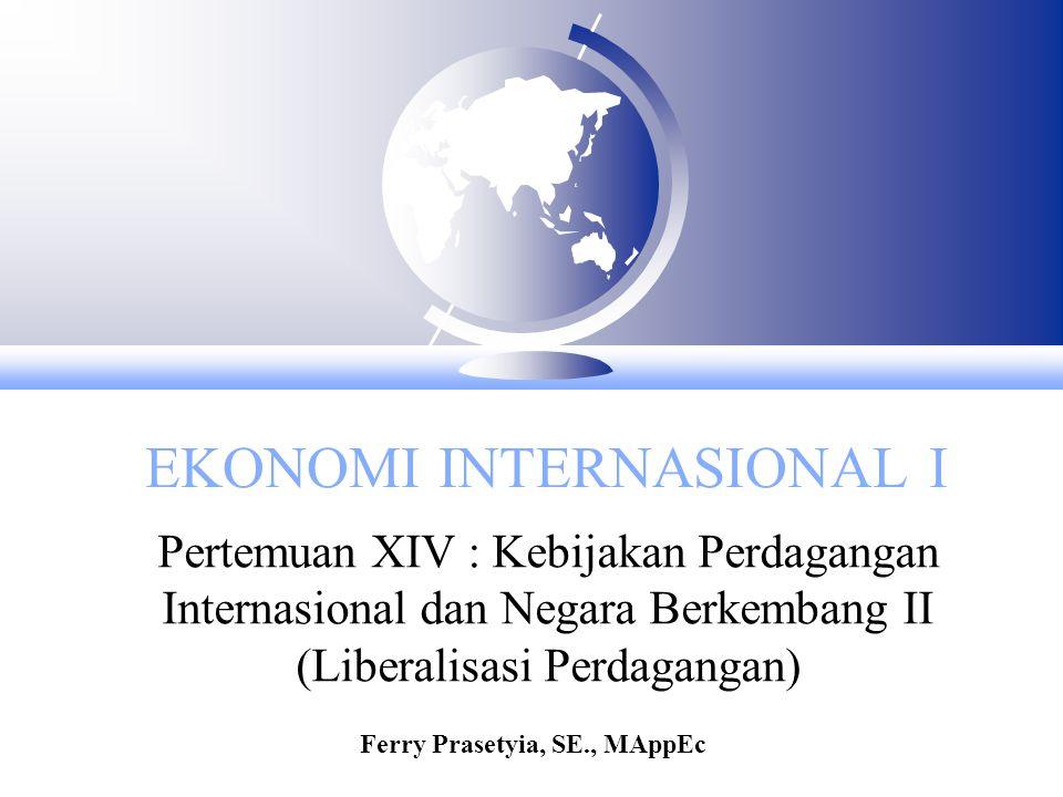 Liberalisasi perdagangan F Fakta menunjukan bahwa di negara pendapatan rendah dan menengah dengan menerapkan perdagangan bebas memiliki tingkat pertumbuhan ekonomi yang lebih tinggi dibanding negara yang menerapkan ISI.