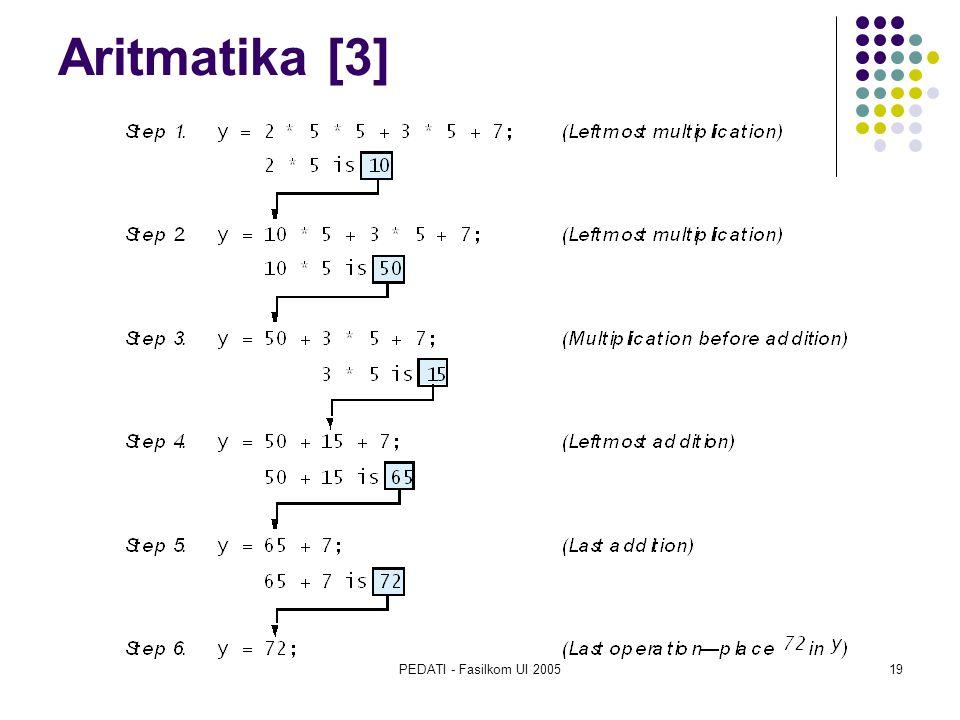 PEDATI - Fasilkom UI 200519 Aritmatika [3]