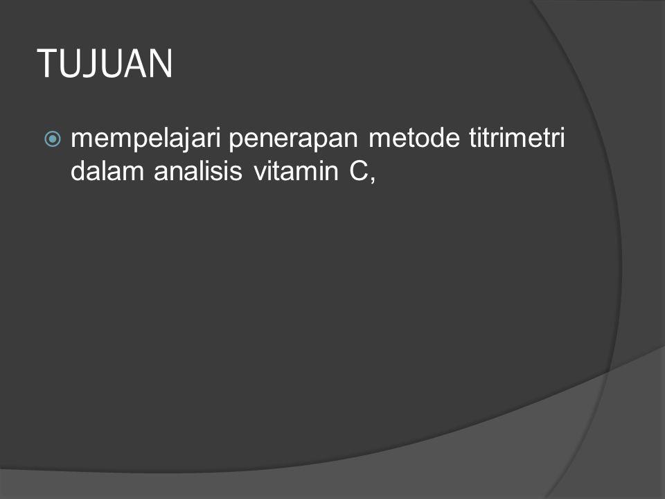  Bahan o Sampel (buah Jeruk, Jambu merah, Semangka yang telah diblender) o Aquadest o Amilum 1% o Larutan I 2 0,01 N