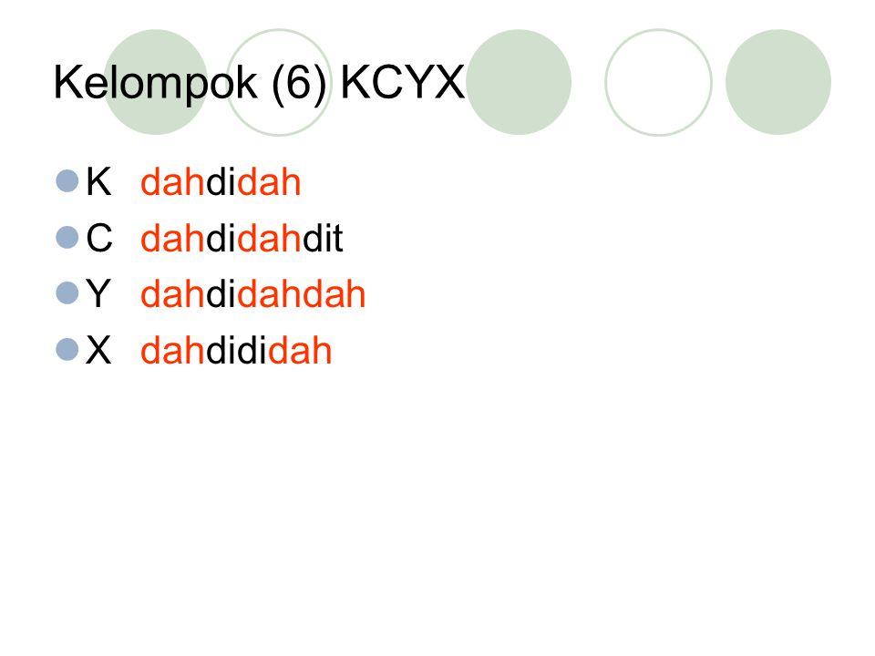 Kelompok (6) KCYX Kdahdidah Cdahdidahdit Ydahdidahdah Xdahdididah