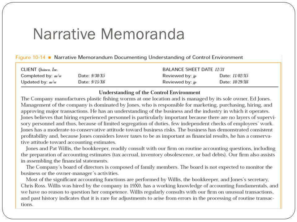 Narrative Memoranda