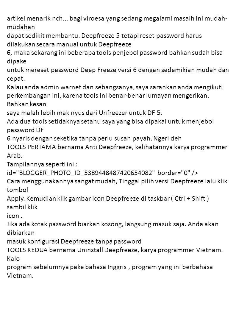 Tampilannya seperti ini : alt= id= BLOGGER_PHOTO_ID_5389450097694633698 border= 0 /> Cara memakainya juga mudah meskipun berbahasa Vietnam, klik tombol Login, sampai tombol Login tidak aktif dan tombol Crack berubah menjadi aktif.