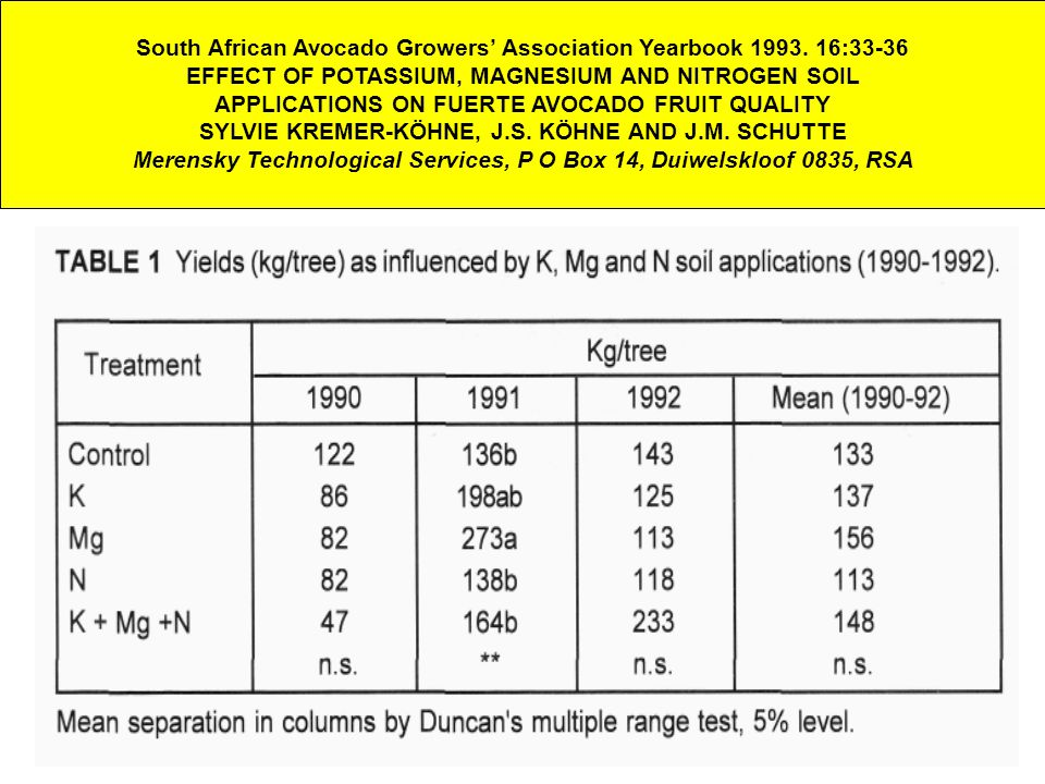 South African Avocado Growers' Association Yearbook 1993.