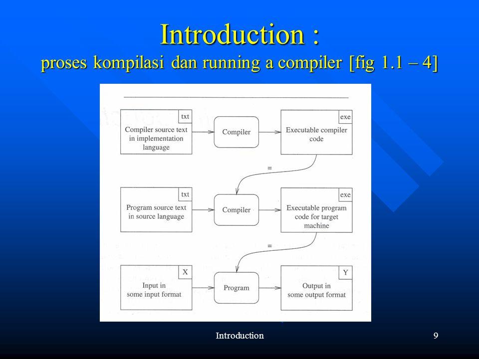 Introduction10 Introduction: perbedaan compiler dan interpreter [fig 1.3 – 4]