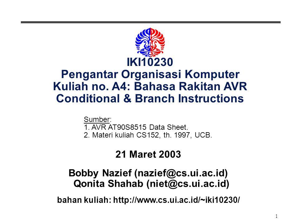 2 Instruksi: Conditional & Branch