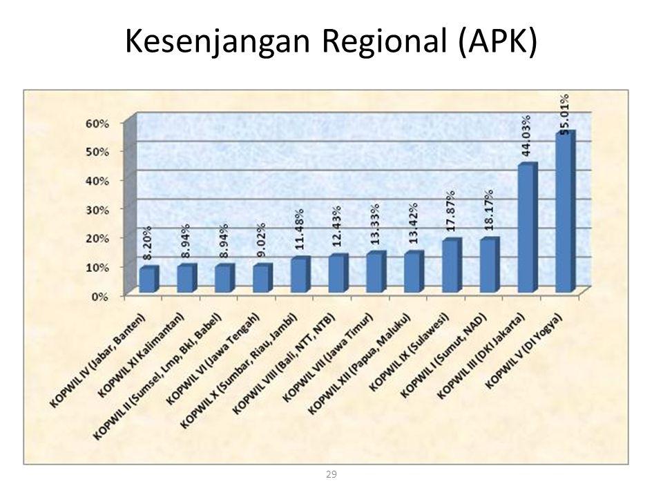 Kesenjangan Regional (APK) 29