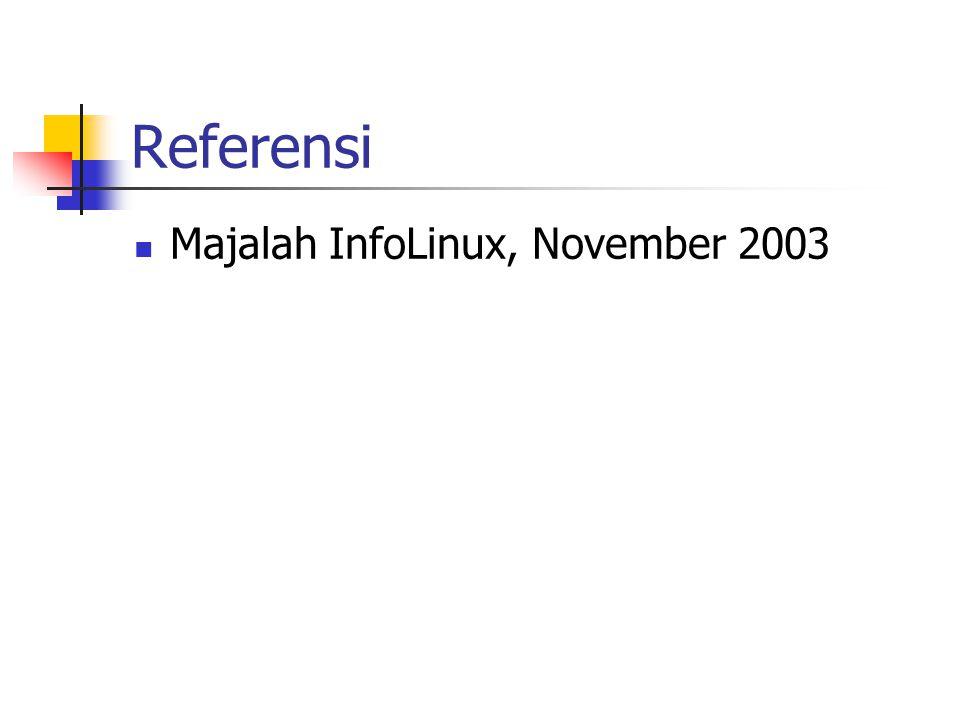 Referensi Majalah InfoLinux, November 2003