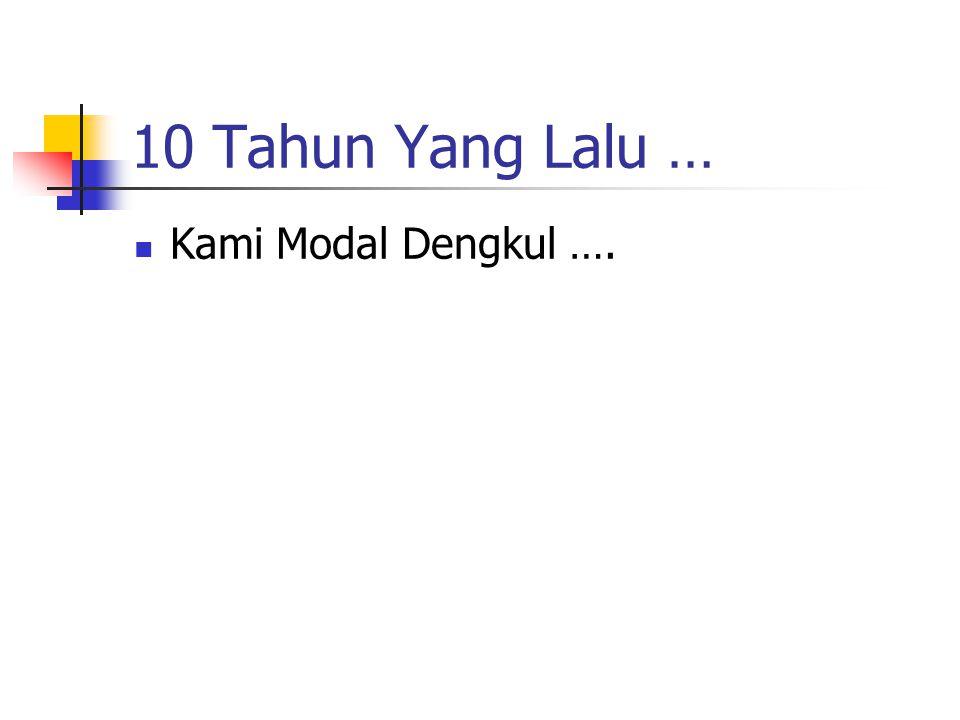 10 Tahun Yang Lalu … Kami Modal Dengkul ….
