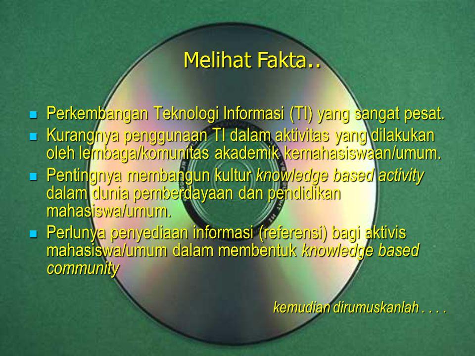 Perkembangan Teknologi Informasi (TI) yang sangat pesat. Perkembangan Teknologi Informasi (TI) yang sangat pesat. Kurangnya penggunaan TI dalam aktivi
