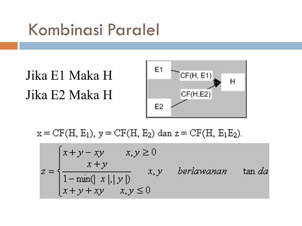 Kombinasi Paralel Jika E1 Maka H Jika E2 Maka H