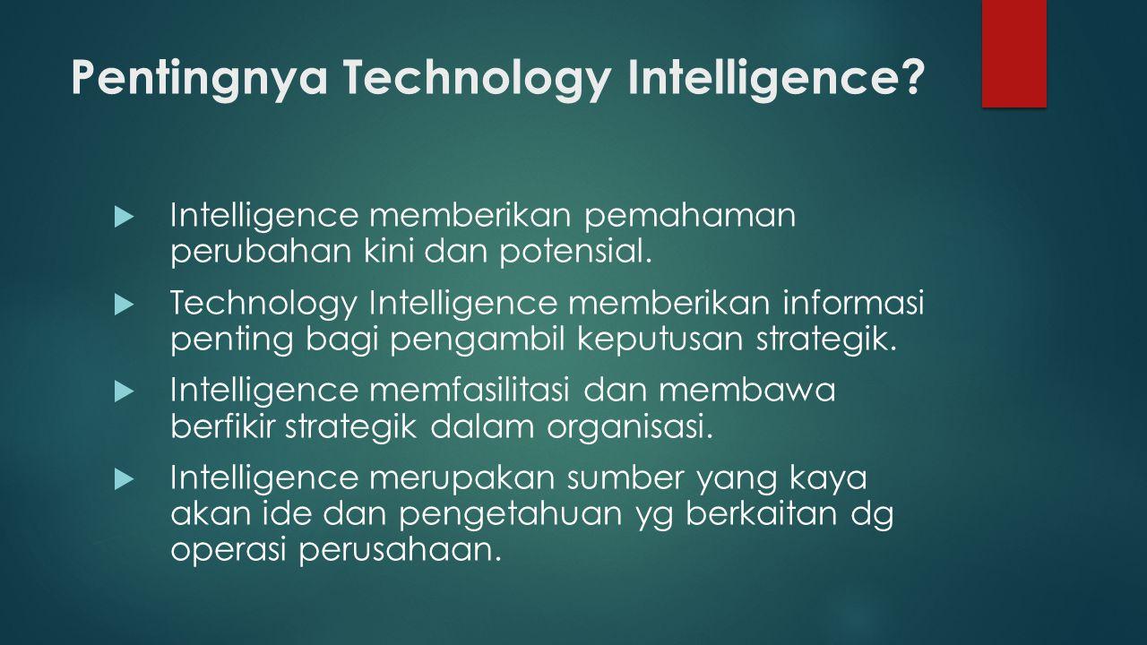 LEVEL OF TECHNOLOGY INTELLIGENCE  Macro level: berhubungan dengan tren teknologi yang dikembangkan dalam perekonomian.