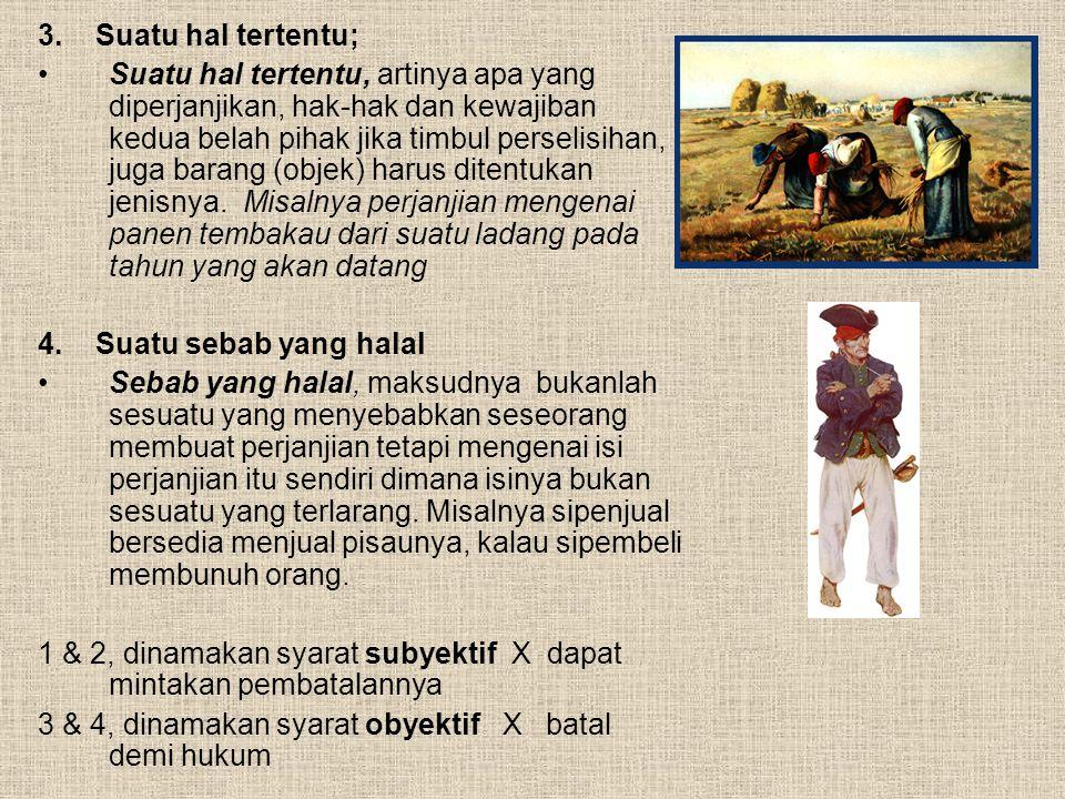 BATALNYA SUATU PERJANJIAN (1381 KUHPdt) 1.