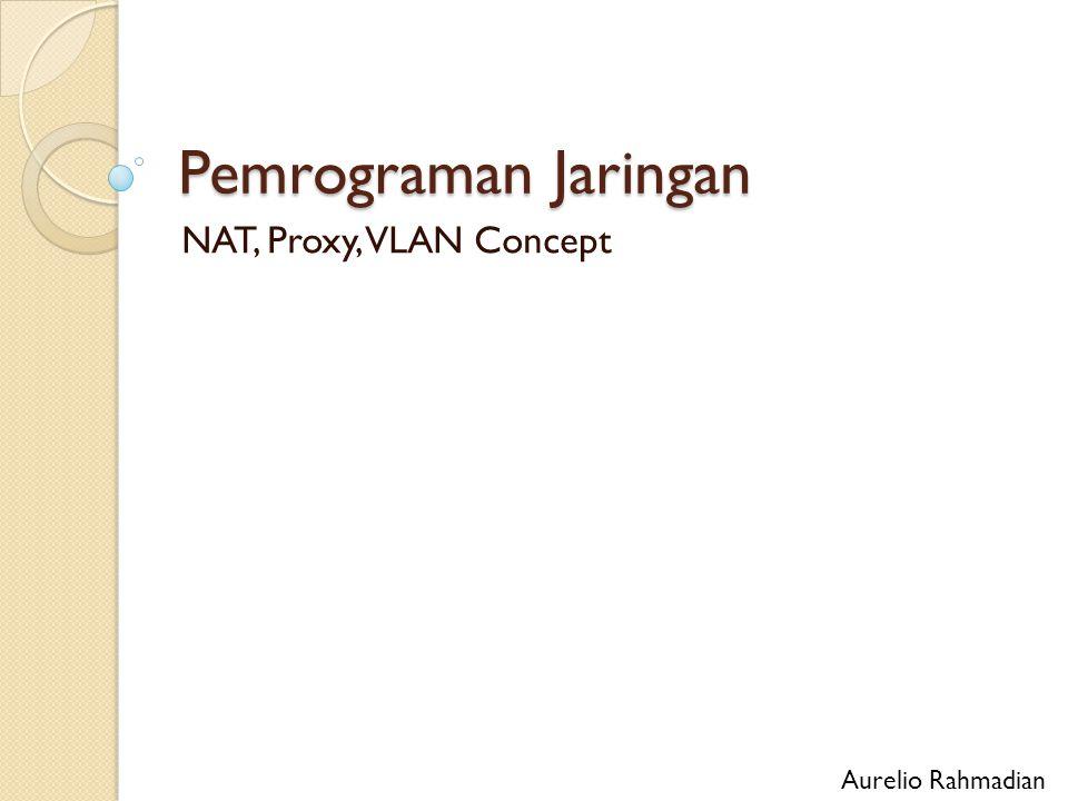 Objektif NAT ◦ Tipe NAT ◦ Aplikasi NAT Proxy Server ◦ Fungsi Proxy VLAN