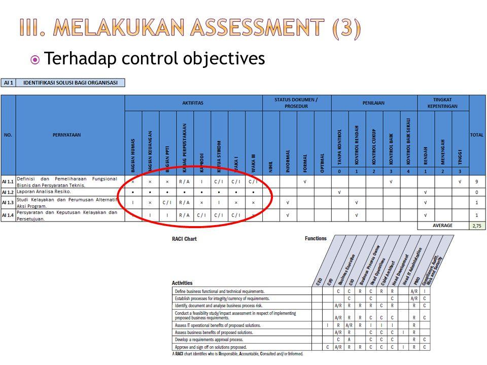  Terhadap control objectives