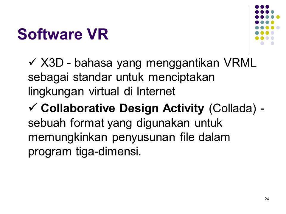 Software VR X3D - bahasa yang menggantikan VRML sebagai standar untuk menciptakan lingkungan virtual di Internet Collaborative Design Activity (Collad