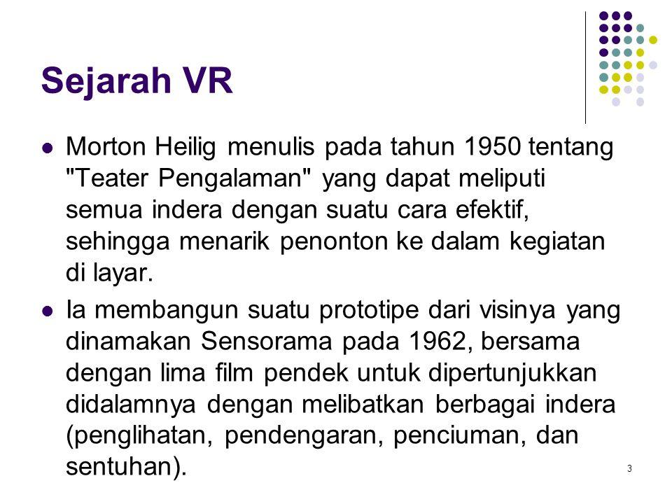 Sejarah VR Morton Heilig menulis pada tahun 1950 tentang