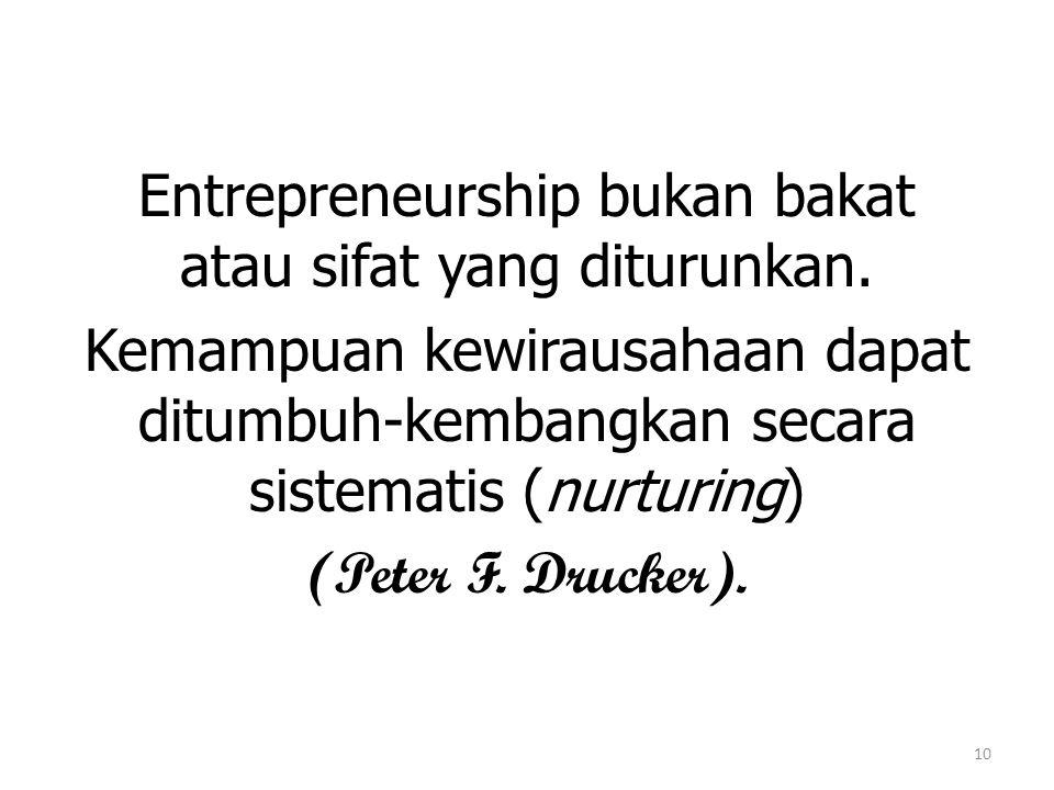 10 Entrepreneurship bukan bakat atau sifat yang diturunkan.