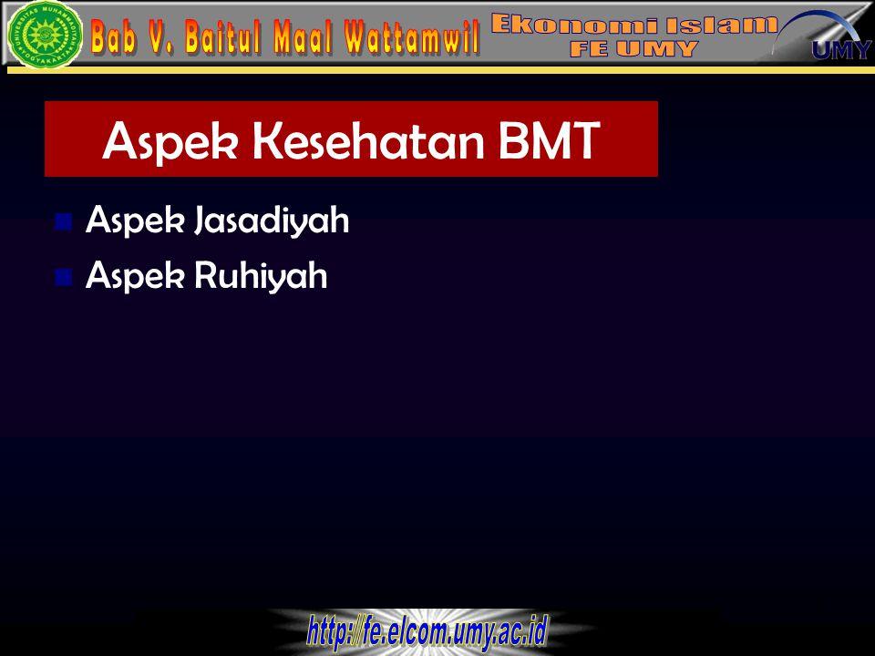 9 Aspek Jasadiyah 1. Kinerja keuangan 2. Kelembagaan dan Manajemen