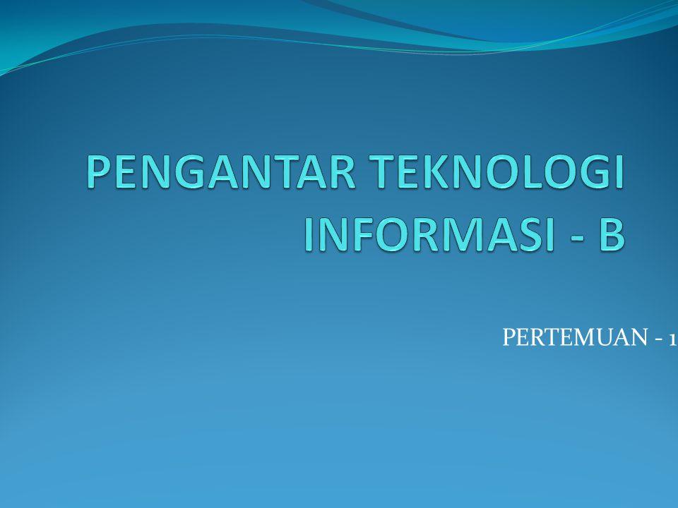 PERTEMUAN - 1