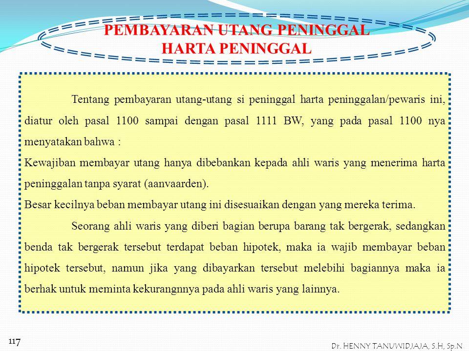 PENGURUS HARTA PENINGGALAN Pengurus Harta Peninggalan ( Bendvoeder ), oleh BW diatur dalam pasal 1019 sampai dengan pasal 1022 BW. Dimulai dari pasal