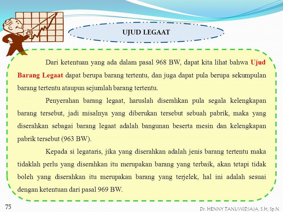 Dalam suatu legaat dapat pula dibebankan suatu kewajiban kepada penerimaan legaat (legataris), dalam pasal 961 BW, membarikan kewajiban bagi legataris