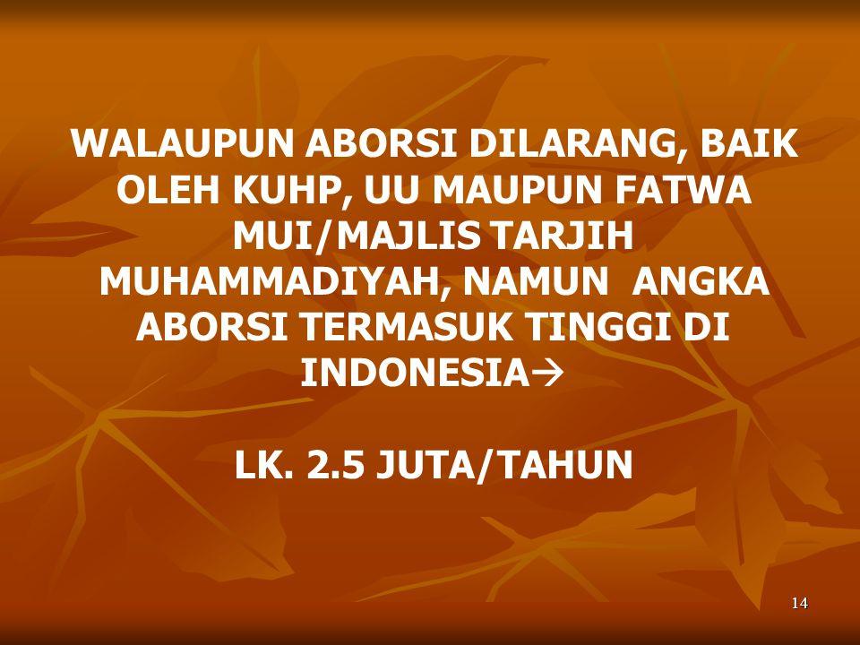 15 SIAPA YANG MELAKUKAN ABORSI DI INDONESIA.
