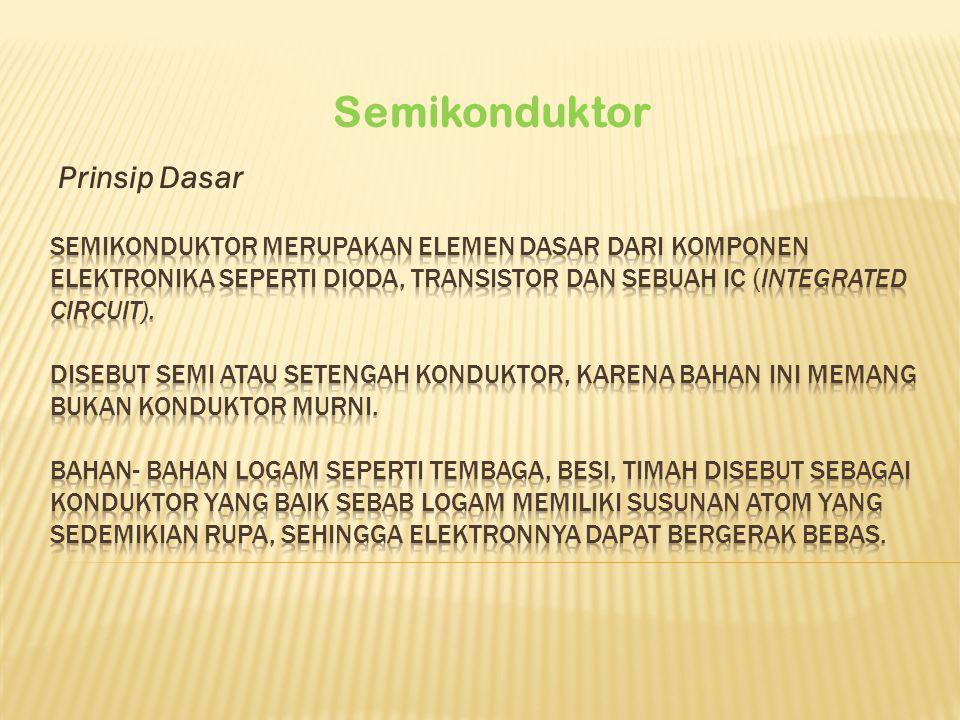 Prinsip Dasar Semikonduktor