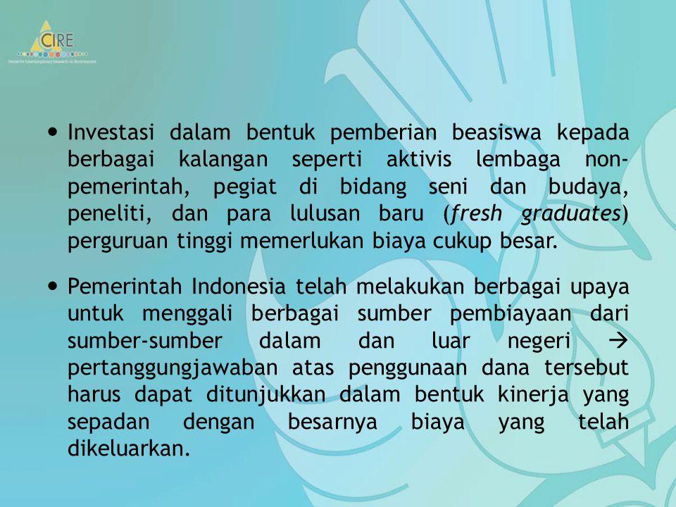 Pendahuluan Salah satu prioritas pembangunan yang dilakukan oleh Pemerintah Indonesia saat ini adalah pembangunan sumber daya manusia yang mempunyai d