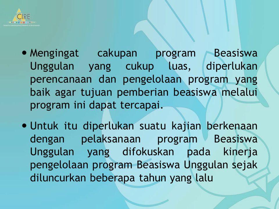 Salah satu program beasiswa yang saat ini berada di bawah pengelolaan Kementerian Pendidikan Nasional Republik Indonesia adalah Program Beasiswa Unggu