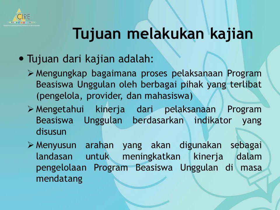 Mengingat cakupan program Beasiswa Unggulan yang cukup luas, diperlukan perencanaan dan pengelolaan program yang baik agar tujuan pemberian beasiswa m