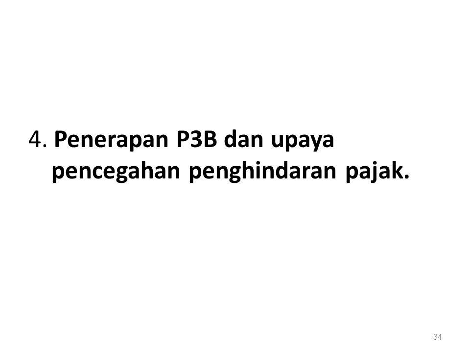 4. Penerapan P3B dan upaya pencegahan penghindaran pajak. 34