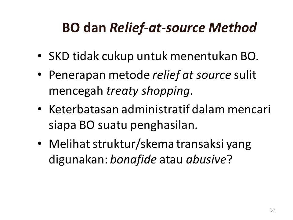 BO dan Relief-at-source Method SKD tidak cukup untuk menentukan BO.