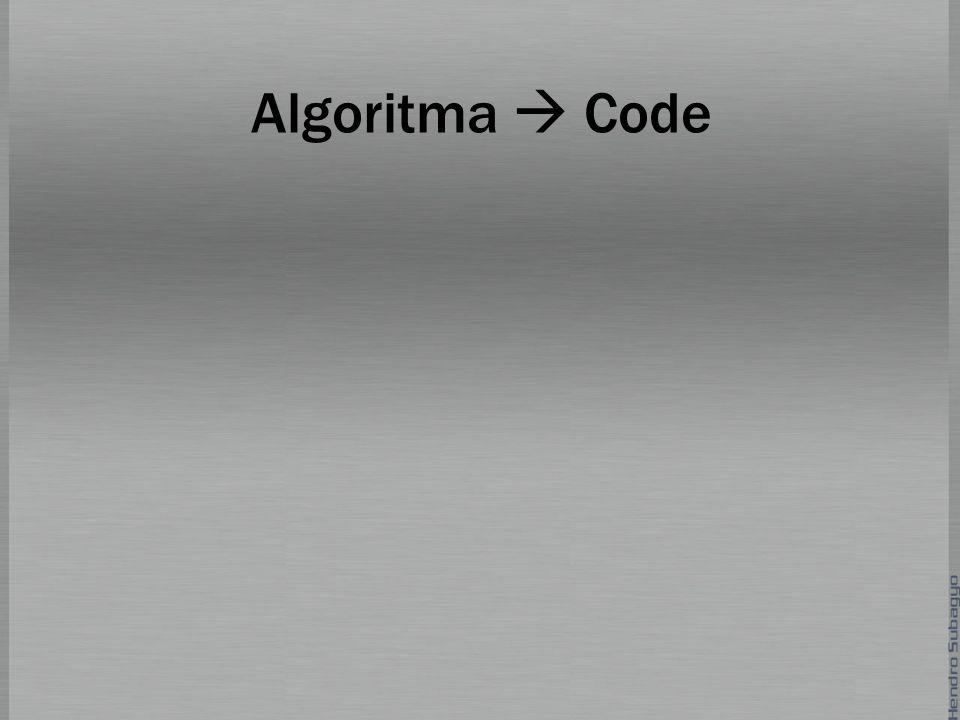 Algoritma  Code