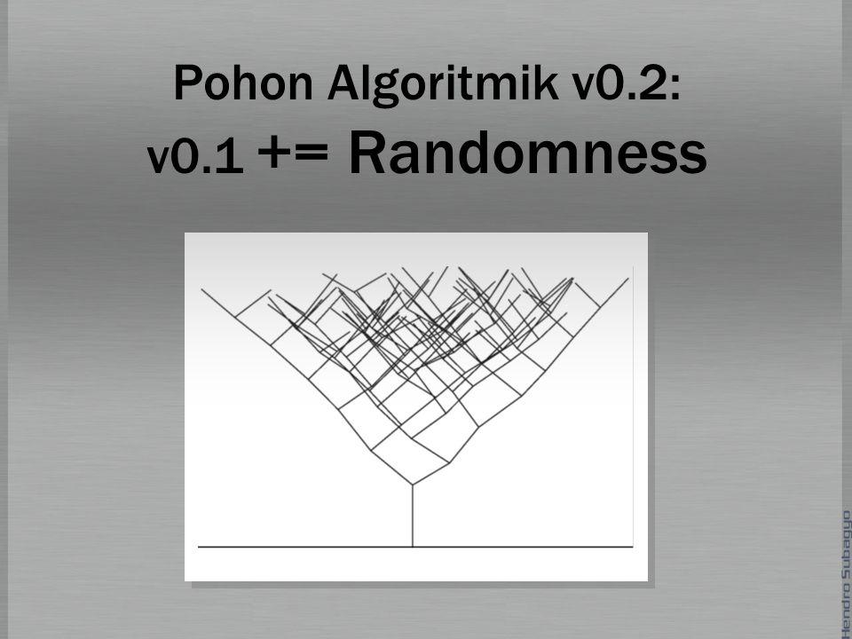 Pohon Algoritmik v0.2: v0.1 += Randomness
