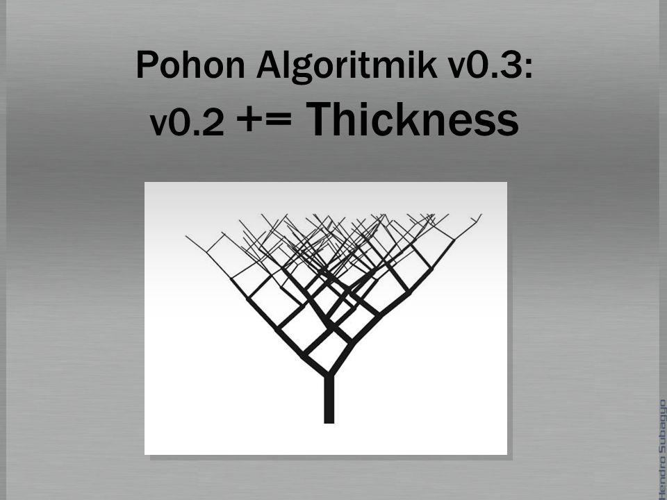 Pohon Algoritmik v0.3: v0.2 += Thickness