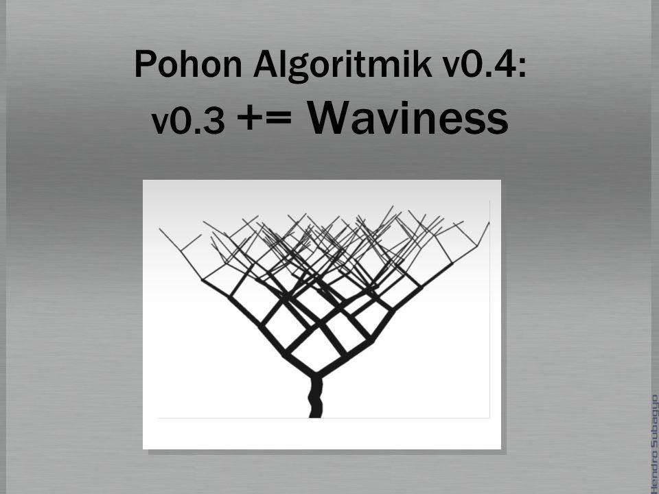 Pohon Algoritmik v0.4: v0.3 += Waviness