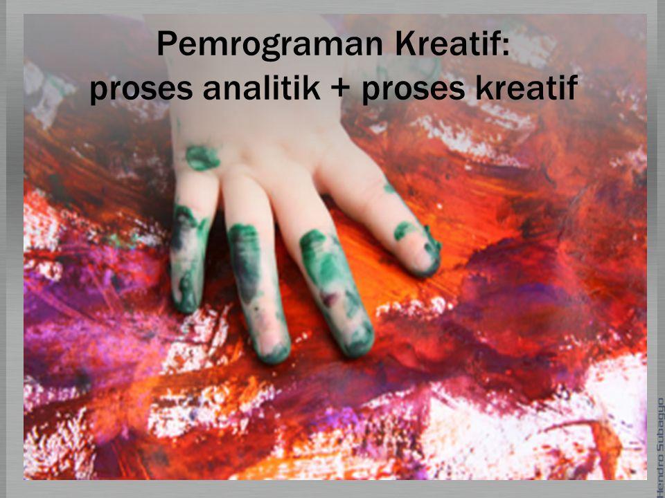 Pemrograman Kreatif: proses analitik + proses kreatif