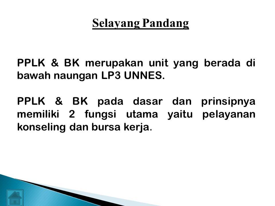 Free Powerpoint Templates PROFIL PPLK & BK LP3 - UNNES Selayang Pandang SDM Tugas Pokok Bidang layanan Bentuk layanan Prosedur layanan Program