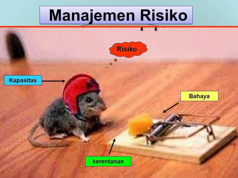 Hubungan antara Risiko, Bahaya, Kerentanan, dan Kemampuan R = Risiko Bencana H = Hazard (Bahaya/Potensi bencana) V = Vulnerability (Kerentanan) C = Capacity (Kapasitas/Kemampuan)