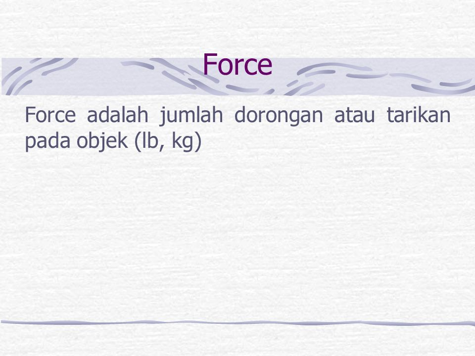 A. Area. Area adalah ukuran permukaan (in 2, m 2 )
