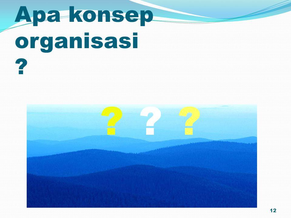Apa konsep organisasi ? 12 ???