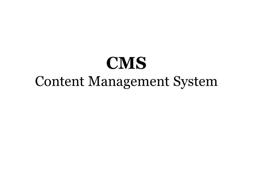 cms content management system (CMS) adalah program komputer yang memungkinkan user untuk menambah, mengubah, memanipulasi dan juga mengelola isi dari sebuah web.