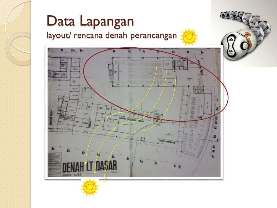 Data Lapangan layout/ rencana denah perancangan