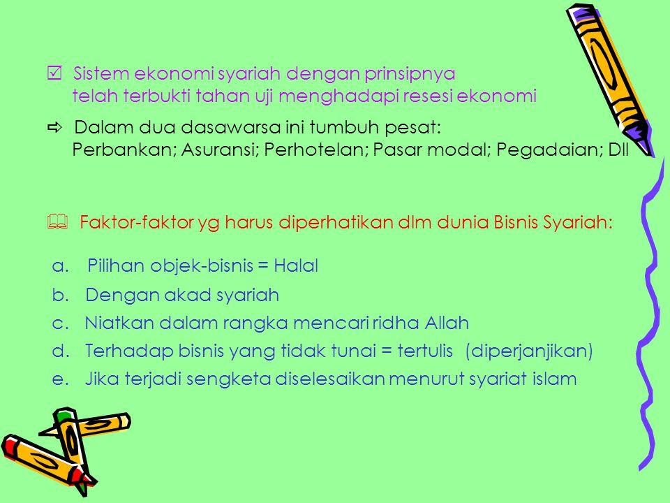 Penyelesaian sengketa ekonomi/ bisnis syariah: a.